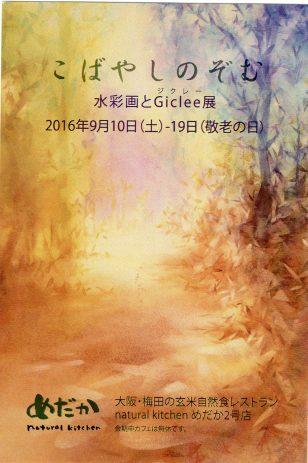 こばやしのぞむ「水彩画とGiclee展」/2016年9月10日(土) ~9月19日(月)