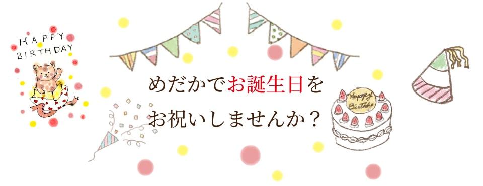 めだかでお誕生日をお祝いしませんか?