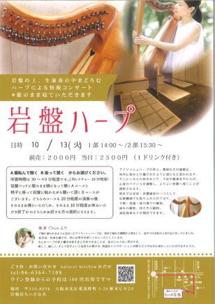 岩盤ハープ 音浴療法(アイリッシュハープ)